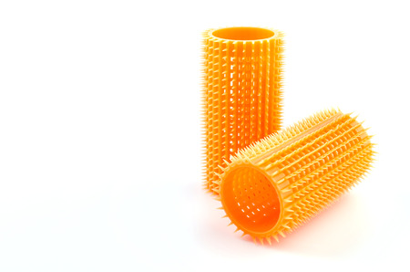 rollers: Hair roller on isolated white background