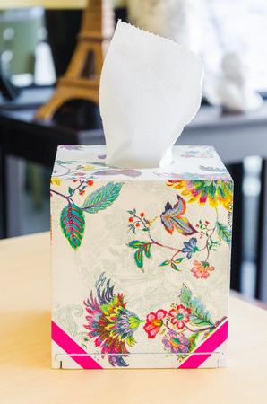 tissues: Tissue box Stock Photo