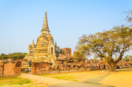 Wat Phra Si Sanphet temple at ayutthaya Thailand photo