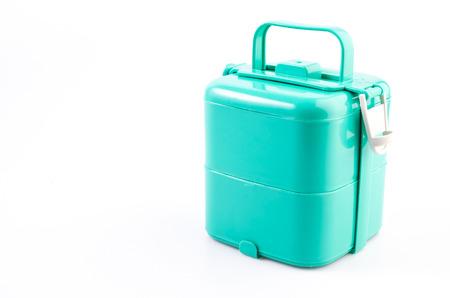 tiffin: Tiffin box on isolated white background Stock Photo
