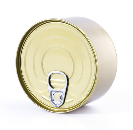 Can on isolated white background photo