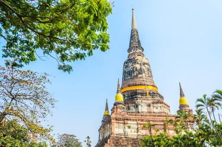 yai: Wat Yai Chaimongkol temple in ayutthaya Thailand