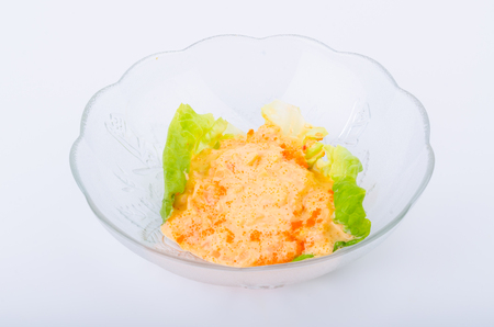 Tobiko salad photo