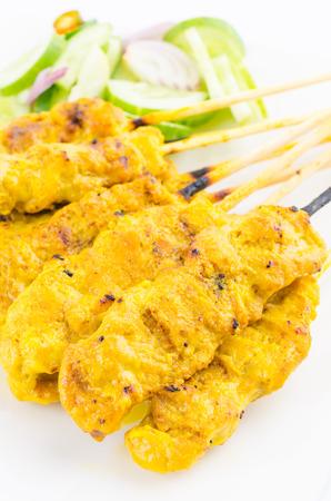 Pork satay thai cuisine food photo