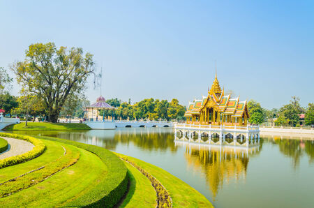 Architecture Bang pa in palace thailand photo