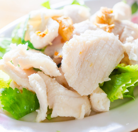 Poached fish photo