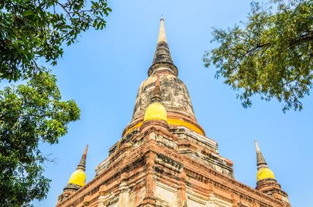 chaimongkol: Wat Yai Chaimongkol temple in ayutthaya Thailand
