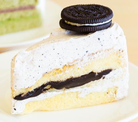 Chocolate cookie cake photo