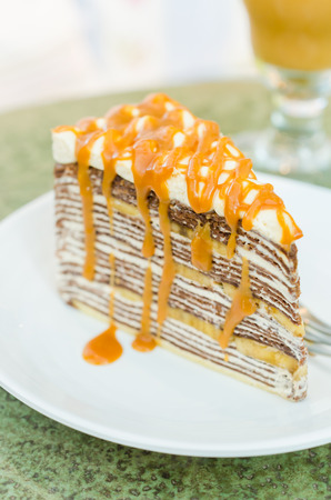 Banana crepe cake photo