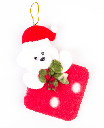 Christmas bear for decorate photo