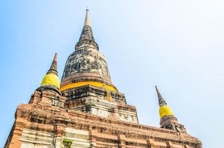 yai: Wat Yai Chaimongkol tempio in Ayutthaya Thailandia