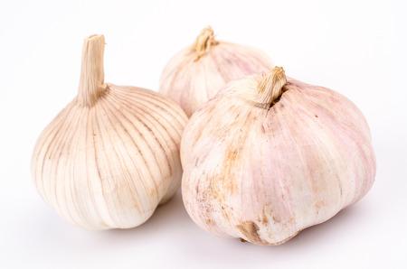 Garlic on isolated white background photo