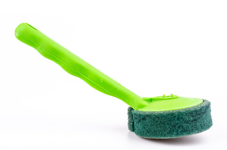 Scrubber on isolated white background Stock Photo