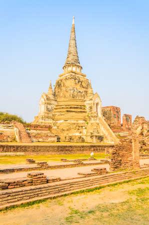 Wat Phra Si Sanphet temple at ayutthaya Thailand photo