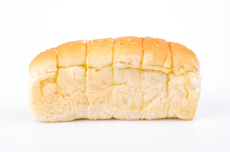 Bavarian butter bread on white background photo