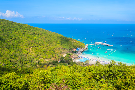 koh larn island tropical beach in pattaya city Thailand photo