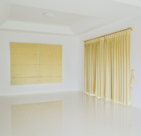 Empty room and blinds interior photo