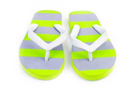 Slippers flip flops on isolated white background photo