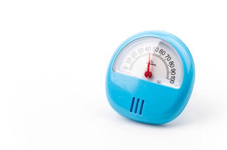 Hygrometer isolated white background