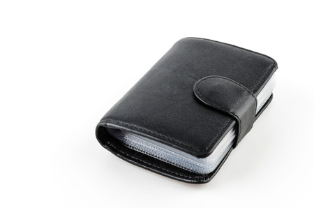 Card holder wallet isolated white background photo