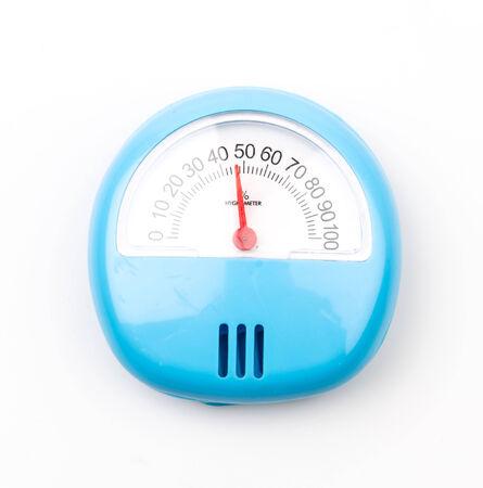 pluviometro: Higr�metro aislado fondo blanco Foto de archivo