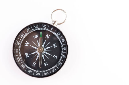 Compass isolated on white background photo