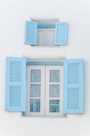 Greece window santorini style photo