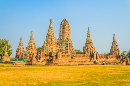 Wat Chai Watthanaram temple in ayutthaya Thailand photo