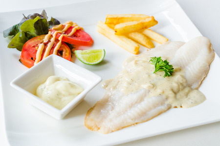 Pangasius steak photo