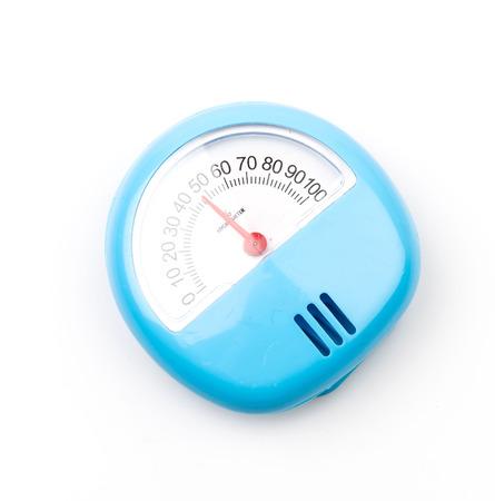 Hygrometer isolated white background photo