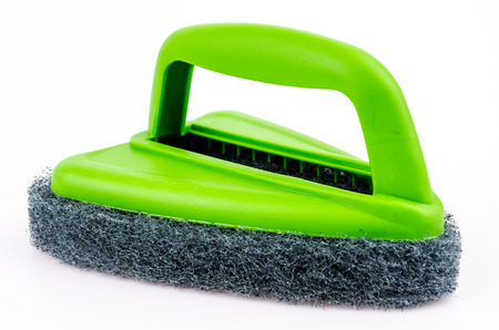 scrubber: Scrubber on isolated white background Stock Photo