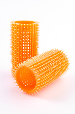 hair roller: Hair roller on isolated white background