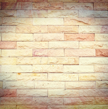 brick background: Stone wall process in vintage style texture for background process in vintage style