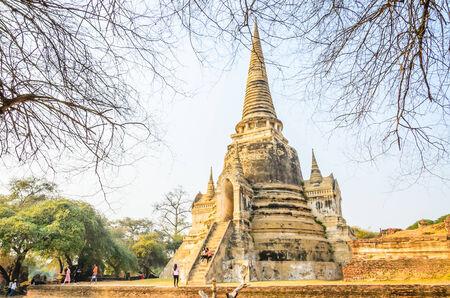 Wat Phra Si Sanphet temple at ayutthaya Thailand
