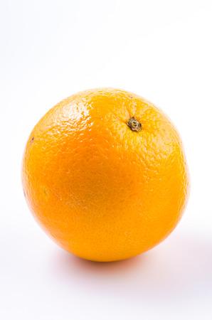 navel orange: Orange fruit on isolated white background