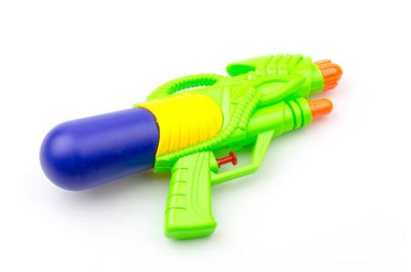 Gun water toy isolated white background photo