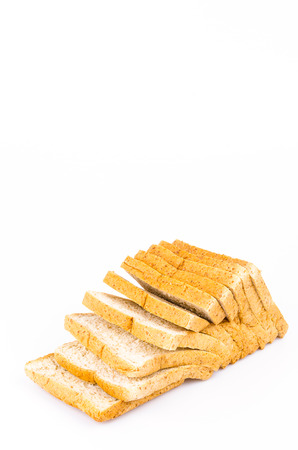 Wheat bread on white background photo