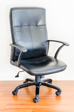 Black leather business office chair photo