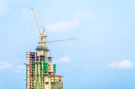 buildingsite: Construction crane building