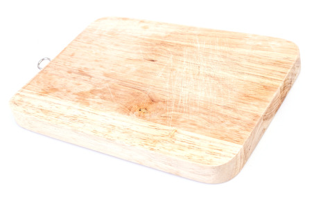 Cutting board on isolated white  photo