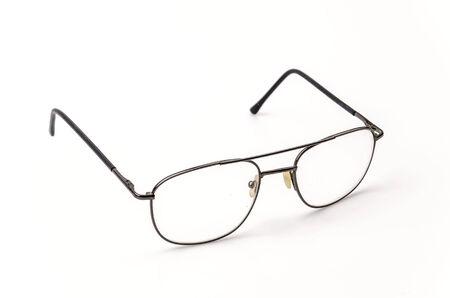 Eyeglasses isolated white  photo