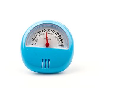 pluviometro: Higr�metro aislado blanco Foto de archivo