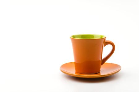 Isolated Orange mug photo