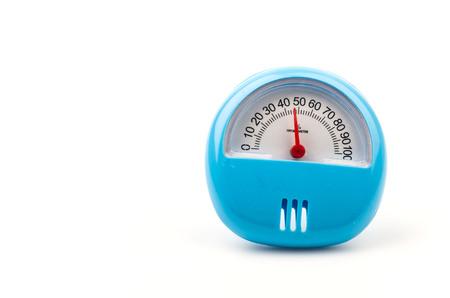 humidity gauge: Hygrometer isolated white background