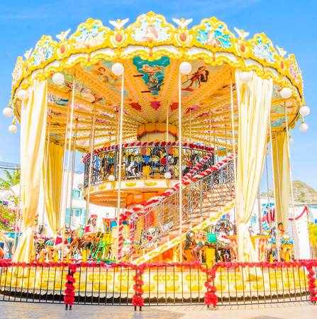 carousel in the park photo
