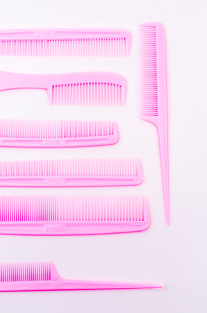 plastic comb: comb isolated white background