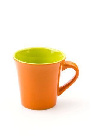 Isolated Orange mug photo