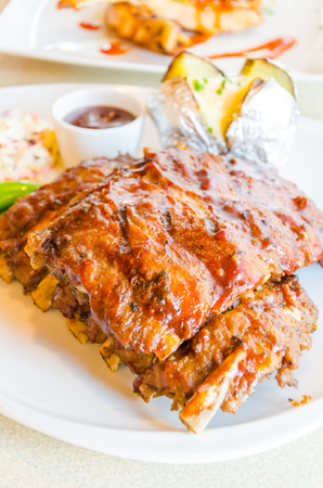 Bbq ribs steak photo
