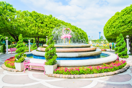 Fountain in the park photo