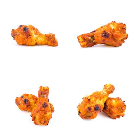 Chicken bbq isolated photo